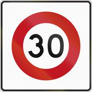 New Zealand road sign RG-1 - 30 kmh limit Piirros