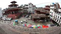 Stock Video Footage of Durbar square in Kathmandu