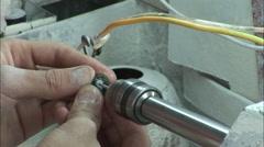 Man polishing jade, Silk Road, China Stock Footage