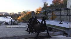 Ottawa Locks Late Autumn, Ottawa, Ontario  2015 Stock Footage