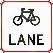 New Zealand road sign RG-26 - Cyclist lane Piirros