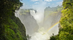 Victoria Falls Waterfall in Africa Stock Footage