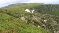 Beautiful panorama Karakol lakes from the top of ridge Iolgo Stock Footage