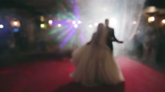 Bride and groom dancing the first dance at their wedding day Stock Footage