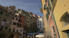 Old buildings in Vernazza, Cinque Terre Stock Footage