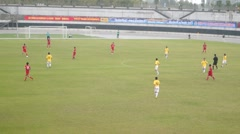 Shenzhen baoan stadium, in a football match Stock Footage