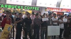 Starbucks at Beijing airport Stock Footage