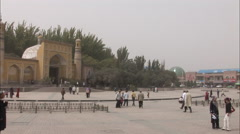 Kashgar mosque, Xinjiang, China Stock Footage