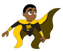 Superhero boy cartoon Stock Illustration