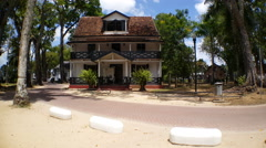 Historical house in Paramaribo Stock Footage