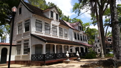 Historical houses in Paramaribo Stock Footage