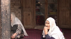 Old Uyghur Women, Kashgar Old Town, China Stock Footage