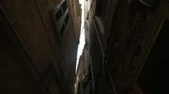 Narrow street in Vernazza village, Cinque Terre Stock Footage