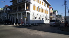 Downtown Paramaribo Stock Footage