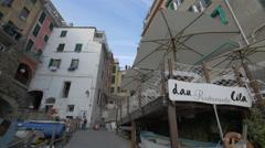 Stock Video Footage of Ristorante Cila in Riomaggiore, Cinque Terre