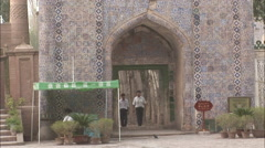 Entrance Id Kah Mosque, Kashgar, China Stock Footage