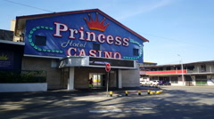 Princess hotel and casino Stock Footage