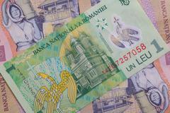 Different Romanian Lei Banknotes Stock Photos