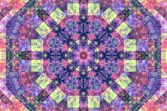 Mosaic abstract background with concentric pattern Stock Illustration