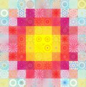 Color background with abstract mosaic Stock Illustration