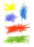 Abstract color hand drawn design elements Stock Illustration