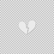 i Broken Heart Alpha animation clip for video or presentation - stock footage