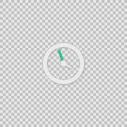 i Clock Alpha animation clip for video or presentation - stock footage
