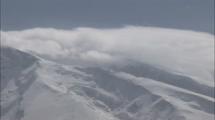 Snowy mountain summits, Xinjiang, China Stock Footage
