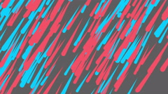 Blue Pink Rain drop Seamless Loop Animation with Pastel Color Style. Stock Footage