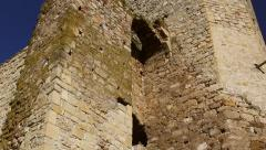 The ruins of medieval fortress Yeni-Sale (main gate) in Dobrogea, Romania Stock Footage