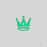 I Crown - King Alpha animation clip for video or presentation Stock Footage
