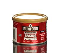 Can of Rumford Aluminum-free Baking Powder Stock Photos