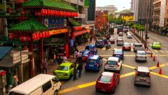 KUALA LUMPUR -September 2015: Street view with people and traffic. 4K time lapse - stock footage