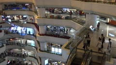 a huge shopping mall in tianhe guangzhou,China - stock footage