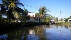 Bakkie village in Suriname Stock Footage
