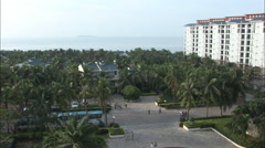 Hotel holiday resort, Hainan, China Stock Footage