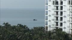 Boat on sea, holiday resort, China Stock Footage