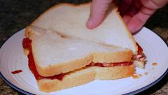 View of Bacon sandwich Stock Footage