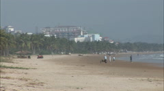 Hainan beach, China Stock Footage