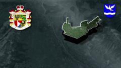 Eschen with Coat of arms animation map - stock footage