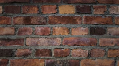 Old brick wall. - stock footage