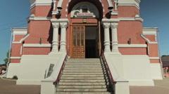Spaso-Preobrazhensky Cathedral in the city of Nizhny Novgorod - stock footage