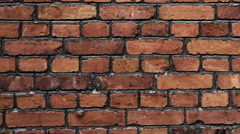 Old brick wall. Stock Footage