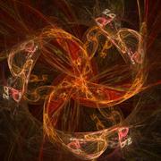 Abstract glowing haze - stock illustration