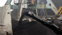 Coal Loading Conveyor Belt Stock Footage