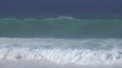 4K Foamy Waves Aqua Green Deep Blue Sea Ocean Scenic Stock Footage