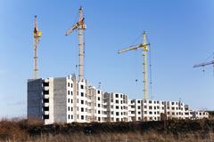Build high-rise buildings Stock Photos