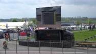 Stock Video Footage of 4k Volkswagen Golf Cup car race LED panel with race info