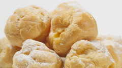 Creamy Bignè, pastries from France and north of Italy Stock Footage