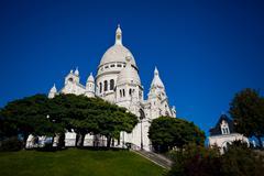 View on Basilique of Sacre Coeur, Montmartre, Paris, France - stock photo